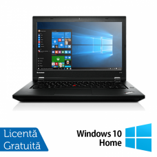Laptop Refurbished LENOVO L440, Intel Core i5-4300M, 2.6GHz, 4GB DDR3, 500GB SATA, Display 14 Inch Wide + Windows 10 Home