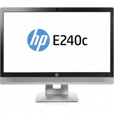 Monitor Second Hand HP EliteDisplay E240C, 24 inch, IPS, W LED, VGA, HDMI, USB, Webcam, Full HD