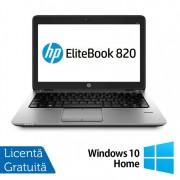 Laptop HP Elitebook 820 G2, Intel Core i5-5200U 2.20GHz, 8GB DDR3, 120GB SSD, 12 Inch + Windows 10 Home