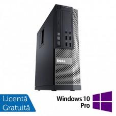 Calculator DELL 3020 SFF, Intel Core i3-4130 3.40 GHz, 4GB DDR3, 500GB SATA, DVD-RW + Windows 10 Pro