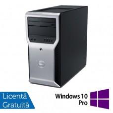 Workstation Dell Precision T1600, Intel Xeon Quad Core E3-1225 3.10GHz - 3.40GHz, 8GB DDR3, 500GB HDD, nVidia GT 605 1GB, DVD-RW + Windows 10 Pro