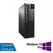 Calculator Lenovo Thinkcentre M91P SFF, Intel Core i7-2600 3.40GHz, 4GB DDR3, 120GB SSD, DVD-RW + Windows 10 Pro