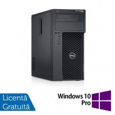 Workstation Dell Precision T1700, Intel Xeon Quad Core E3-1271 V3 3.60GHz - 4.00GHz, 16GB DDR3, 240GB SSD + 2TB SATA, nVidia Quadro K2200/4GB, DVD-RW + Windows 10 Pro