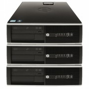 Pachet 3 x Calculator HP 6000 Pro SFF, Intel Core 2 Duo E8400 3.0GHz, 4GB DDR3, 250GB SATA, DVD-RW