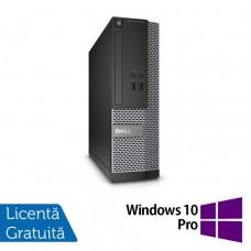 Calculator DELL 3020 SFF, Intel Core i3-4150 3.50 GHz, 4GB DDR3, 250GB SATA, DVD-RW + Windows 10 Pro
