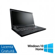 Laptop Lenovo ThinkPad W520, Intel Core i7-2860QM 2.50GHz, 16GB DDR3, 320GB SATA, Nvidia Quadro 1000 2GB, Webcam, 15.6 Inch + Windows 10 Home
