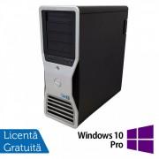 Statie grafica Refurbished Dell Precision T7500 Tower, 1x Intel Xeon X5667 Quad Core 3.06GHz - 3.46GHz, 24GB DDR3, HDD 1TB SATA, DVD-RW, Placa Video Nvidia Quadro 4000/2GB GDDR5/256 bit + Windows 10 Pro
