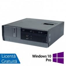 Calculator DELL 3010 SFF, Intel Core i3 3220 3.30GHz, 4GB DDR3, 250GB SATA, DVD-ROM + Windows 10 Pro