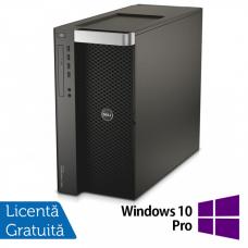 Workstation DELL Precision T7910 2x Intel Xeon Deca Core E5-2687W V3 3.1GHz-3.5GHz 25MB Cache, 64GB DDR4 ECC, 2x 1TB SSD + 2x 1.2TB HDD SAS/10k + nVidia Tesla K20 GPU Accelerator 5GB/320biti + nVidia Quadro K4000 3GB/192biti + Windows 10 Pro